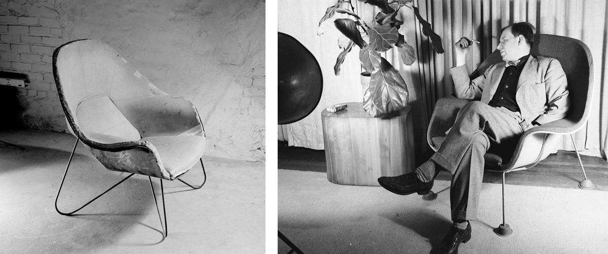 Merveilleux Eero Saarinen With His Womb Chair Prototypes