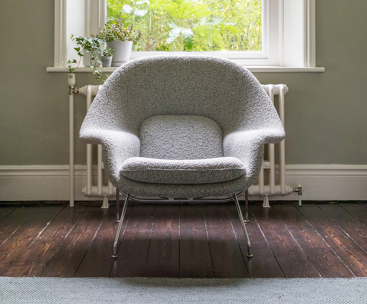 Grey Knoll Womb Chair in a Nest home