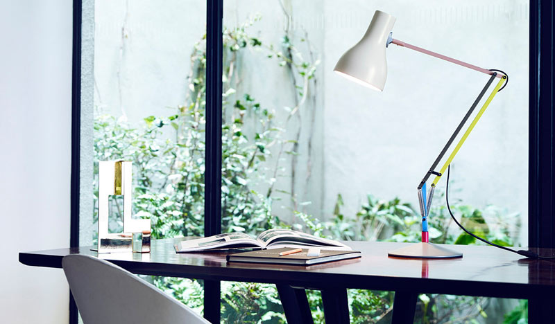 How to make your home office work for you - Let there be light - Anglepoise Type 75 Desk Lamp PAul Smith.jpg