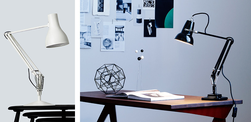 Anglepoise Type 75 Desk Lamp and Original 1227 Mini Desk Lamp