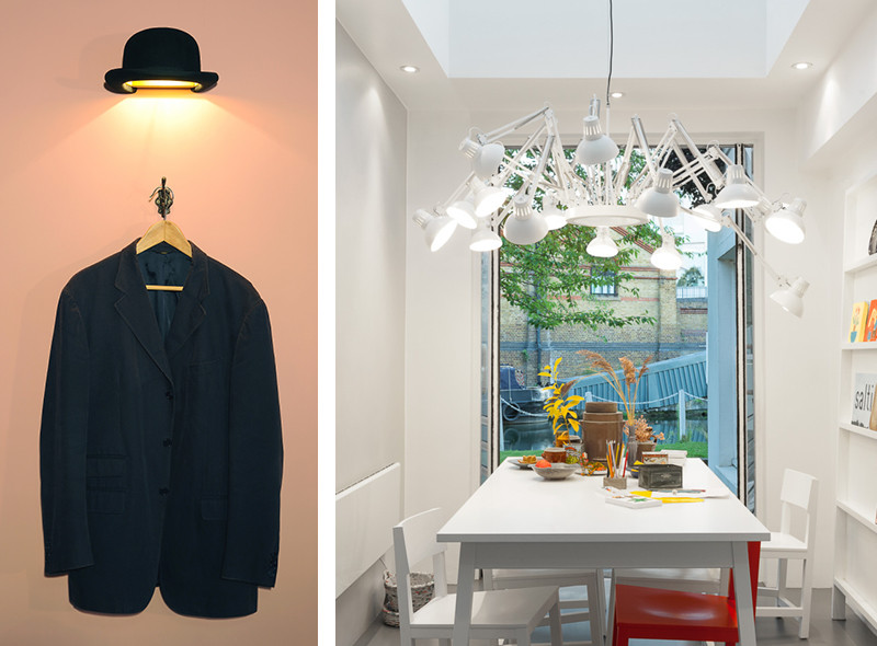 Innermost Jeeves Wall Light and Moooi Dear Ingo Suspension Light