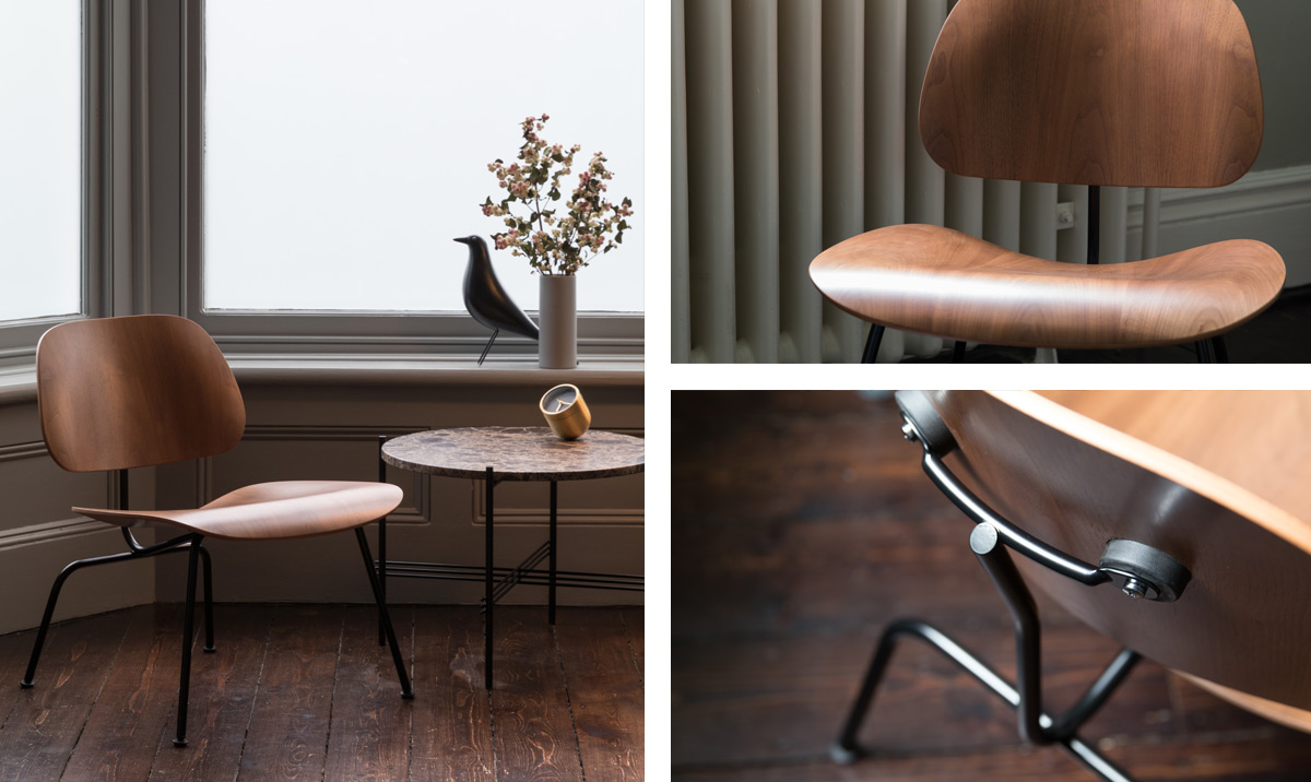 Limited Edition Eames Walnut LCM Chair details and features