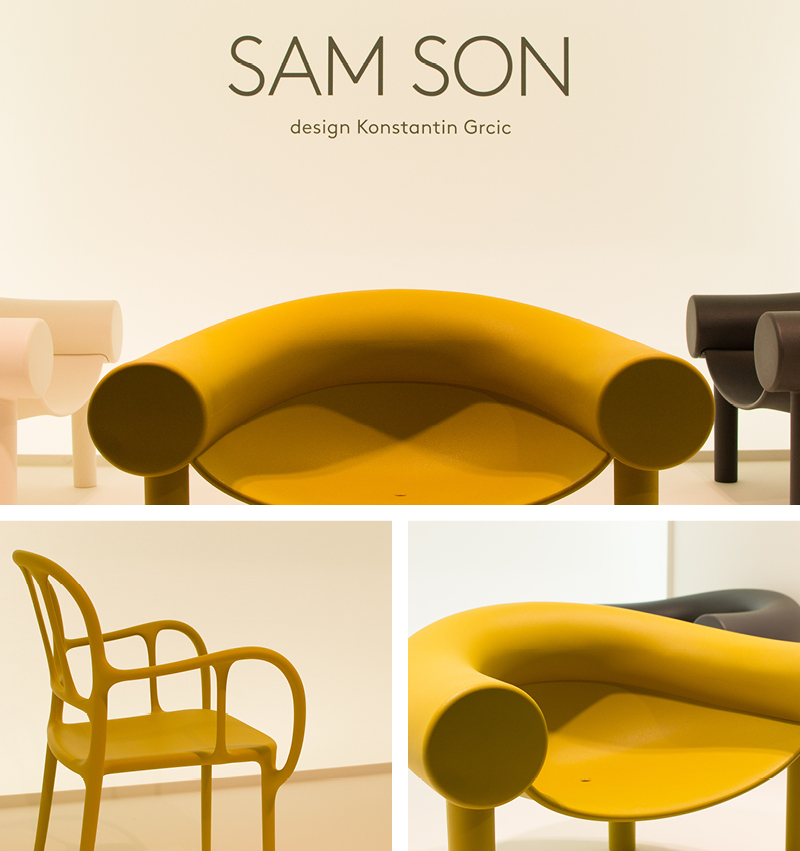 Magis Sam Son by Konstantin Grcic and Magis Mila Chair by Jaime Hayon