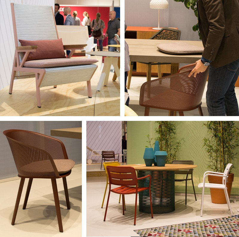 Kettal Stampa Chair, Vieques Chair and Village Chairs