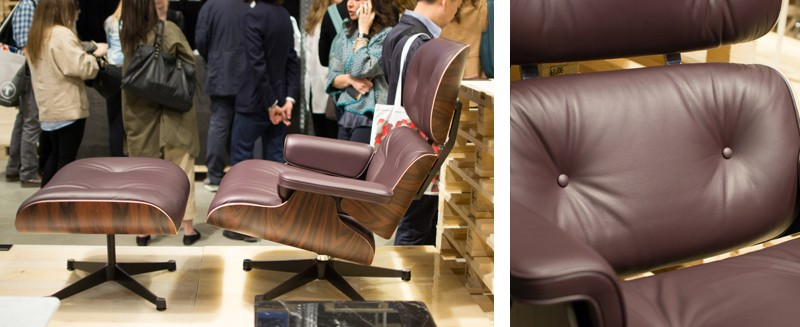 Vitra Eames Lounge Chair and Ottoman in Soft Plum