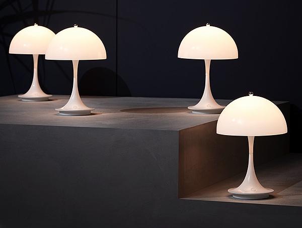 Group of Louis Poulsen Panthella Portable Table Lamps
