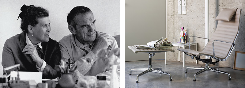 Charles & Ray Eames and the Vitra Eames EA 124 Aluminium Chair
