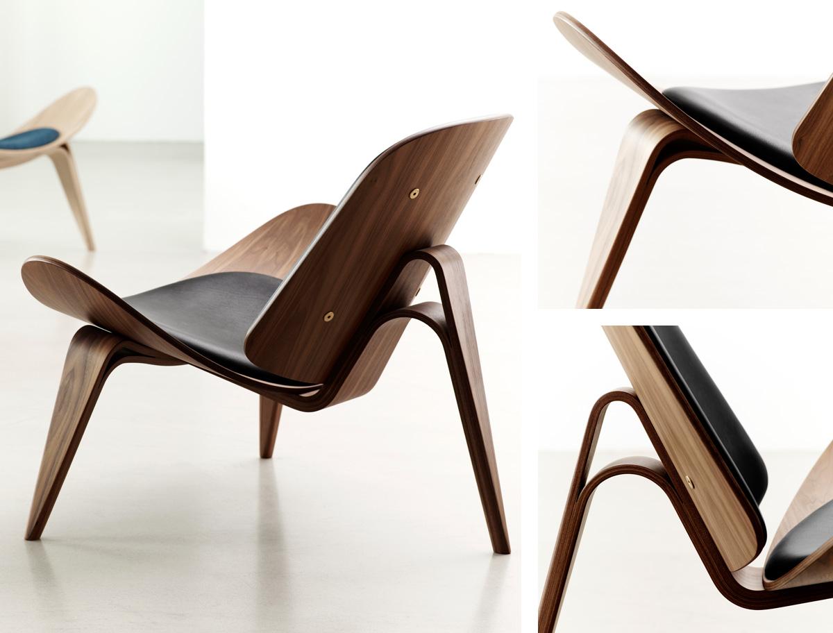 Carl Hansen CH07 Shell Chair in Walnut