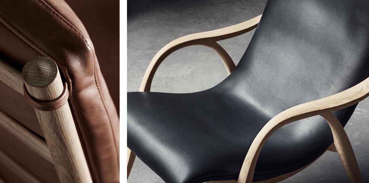 Carl Hansen Leather and Oak design details