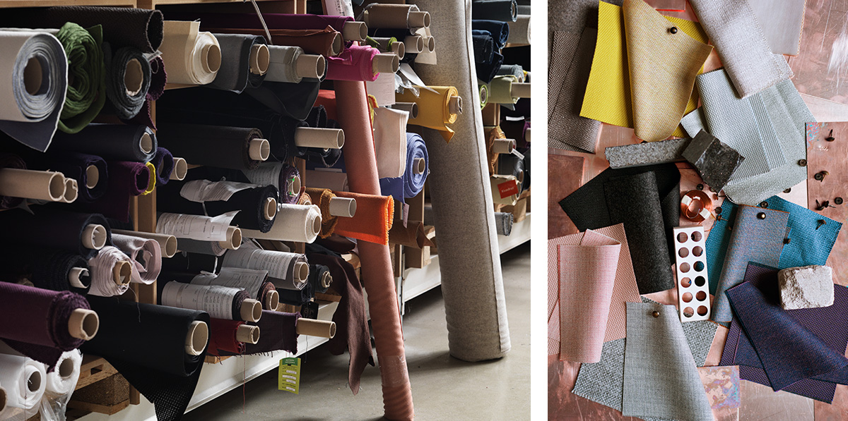 Fritz Hansen Lounge Chair Fabric Details