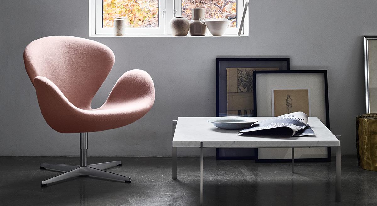 Fritz Hansen Swan Chair in Pink