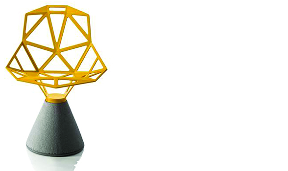 Magis Chair One with Concrete Base in Yellow