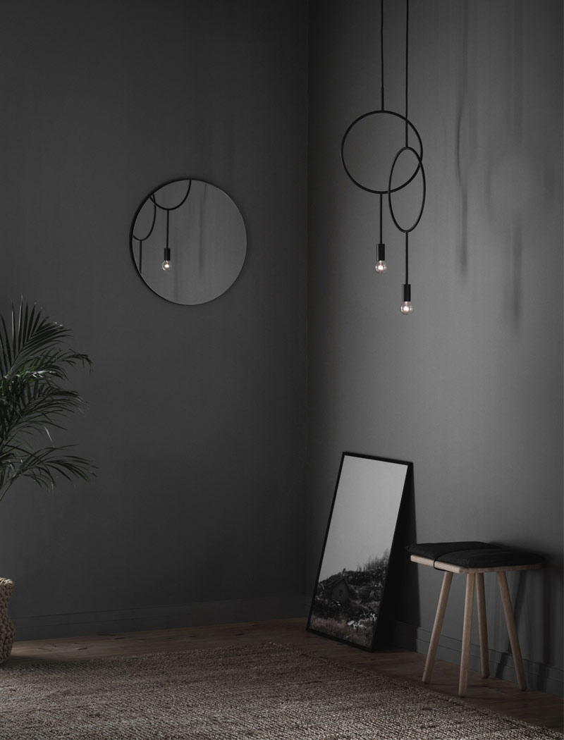 Northern Lighting Circle Pendant Light