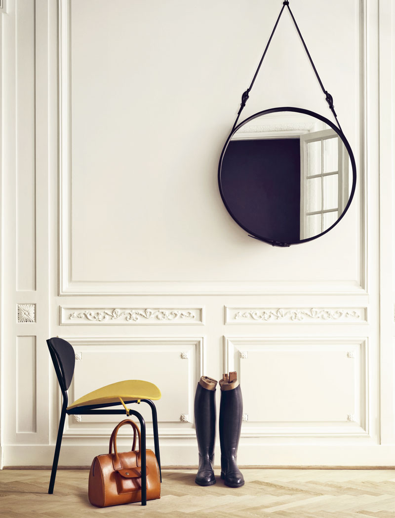 Gubi Adnet Circulaire Mirror in black