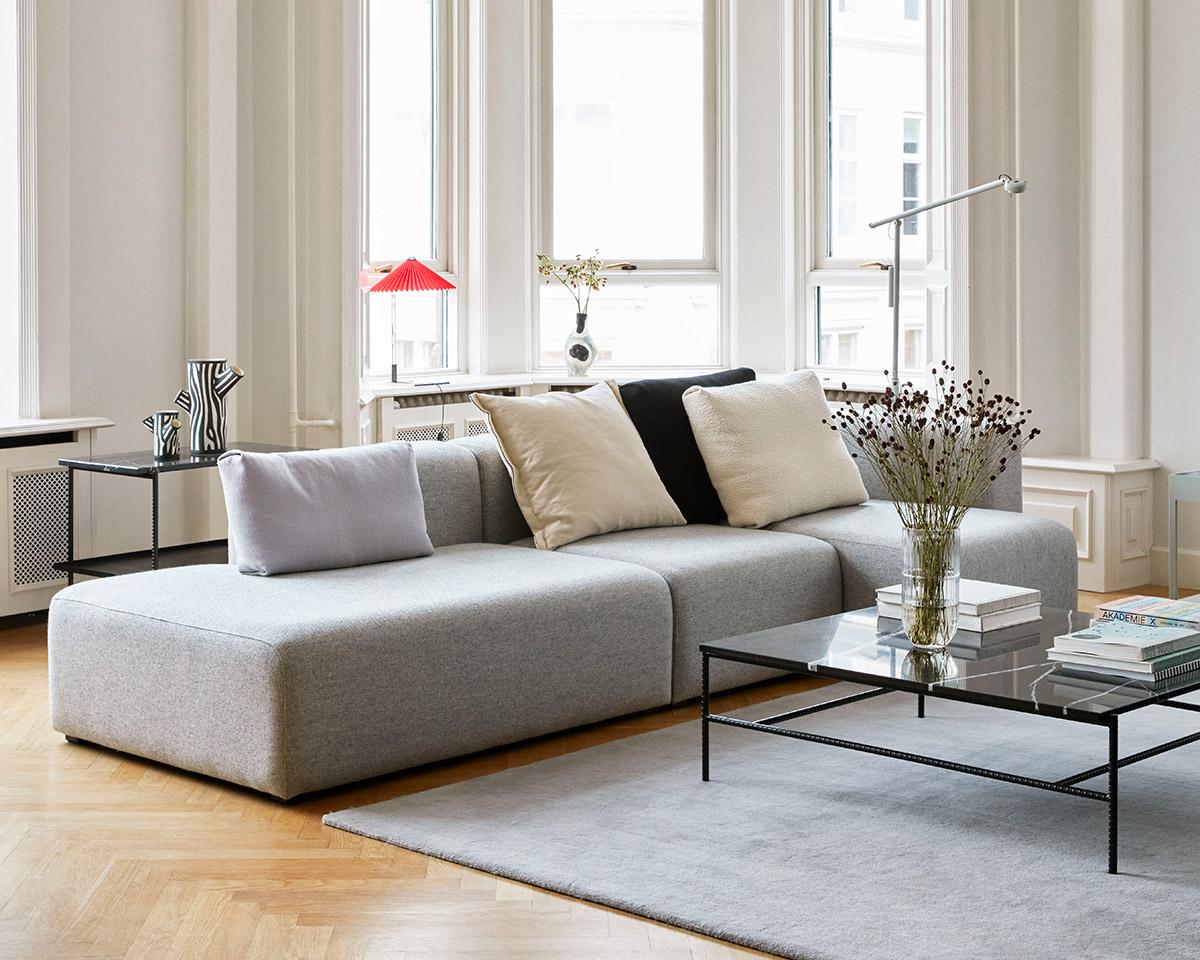 HAY Mags 3 Seater Modular Sofa in Hallingdal 116 fabric