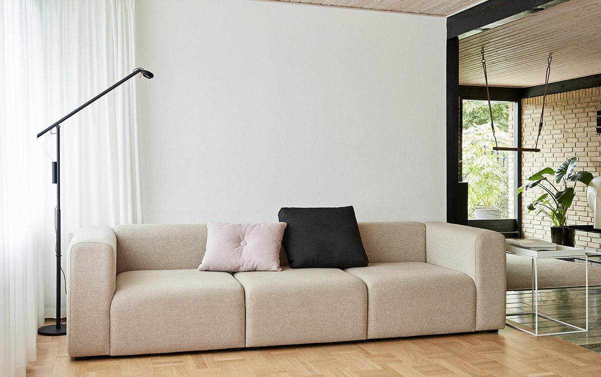 Cream HAY Mags Three Seater Modular Sofa