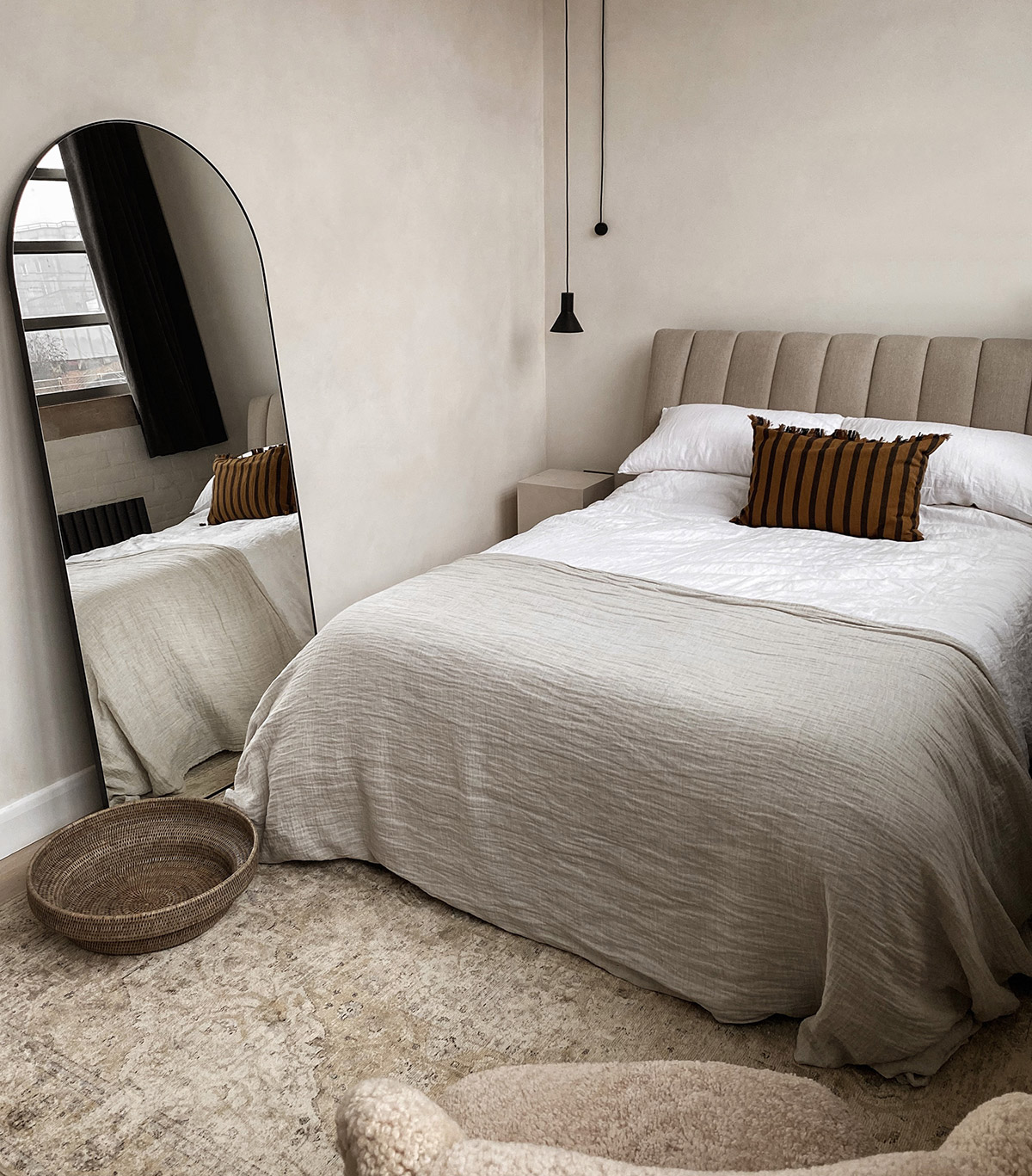 Lisa Mistry's neutral and textural master bedroom