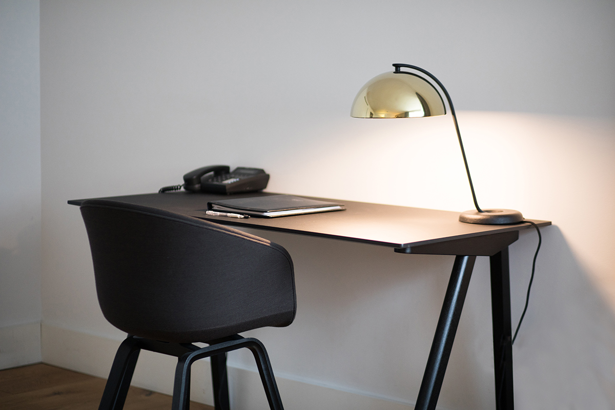 The desk space inside Monarch House Apartments