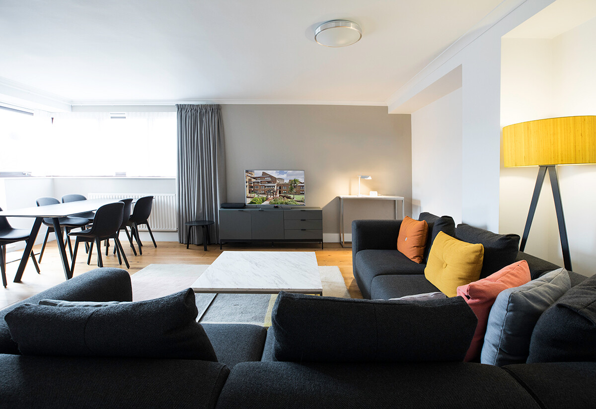 Inside the living room of Monarch House Apartments, Kensingston