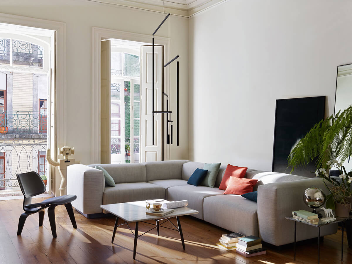 Vitra Soft Modular Sofa in Scandinavian living room