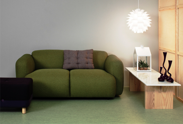 Normann Copenhagen Swell Two Seater Sofa