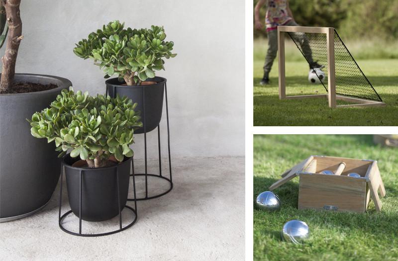Menu Wire Plant Pot, Skagerak Akiko Football Goal and Petanque Set