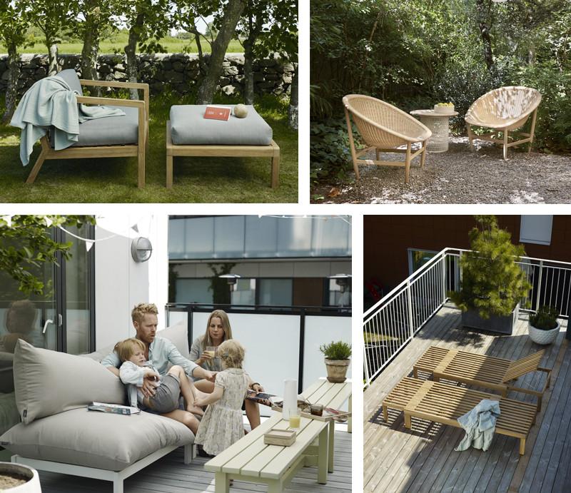 Skagerak Virkelyst Chair & Pouf, Kettal Outdoor Basket Armchair, Skagerak Float Lounge Chair, Skagerak Riviera Sun Lounger