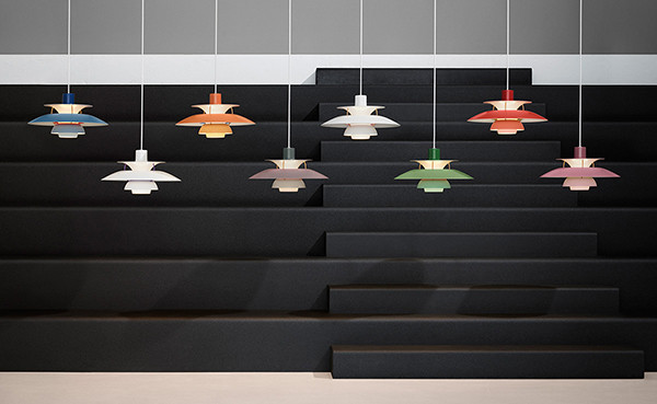 All colours of the PH5 pendant light