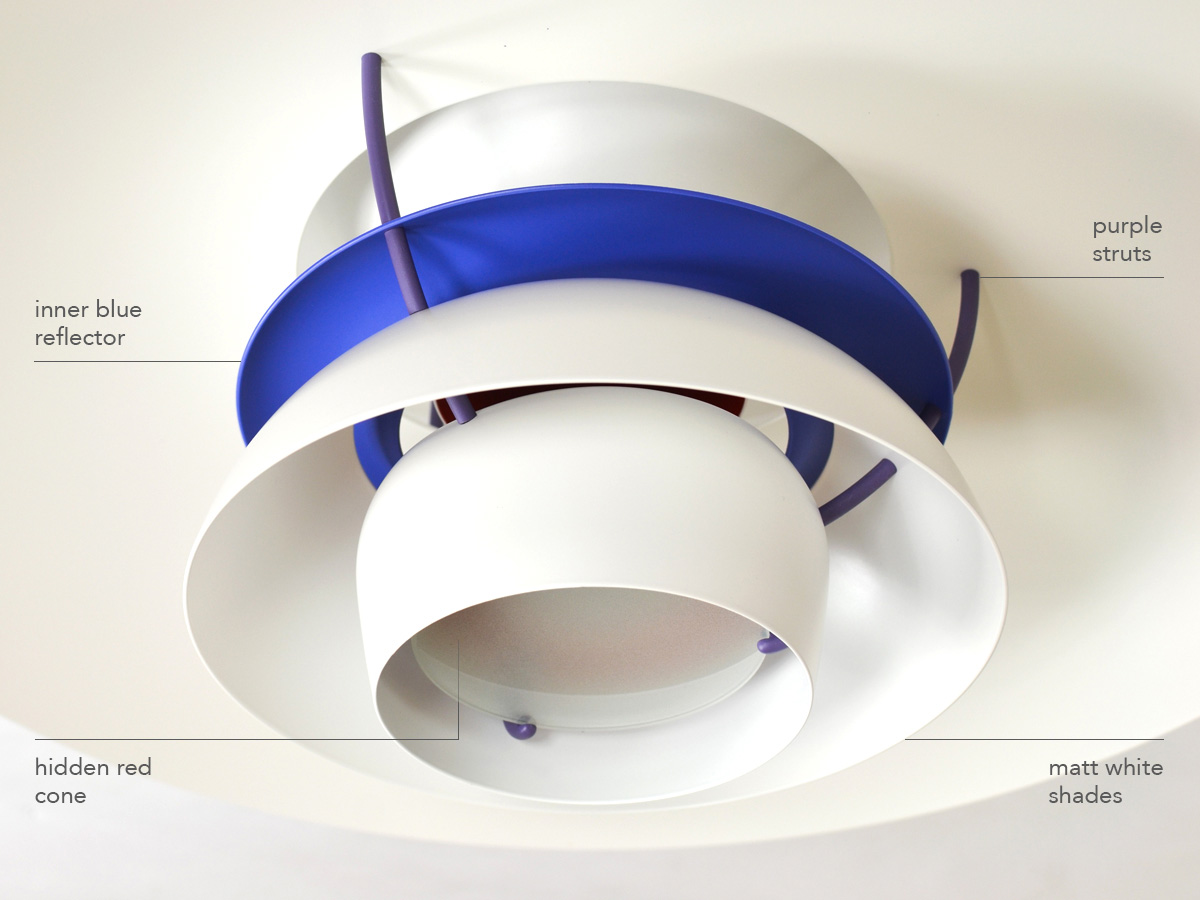 Interior detail of the Classic White PH 5 Pendant Lamp