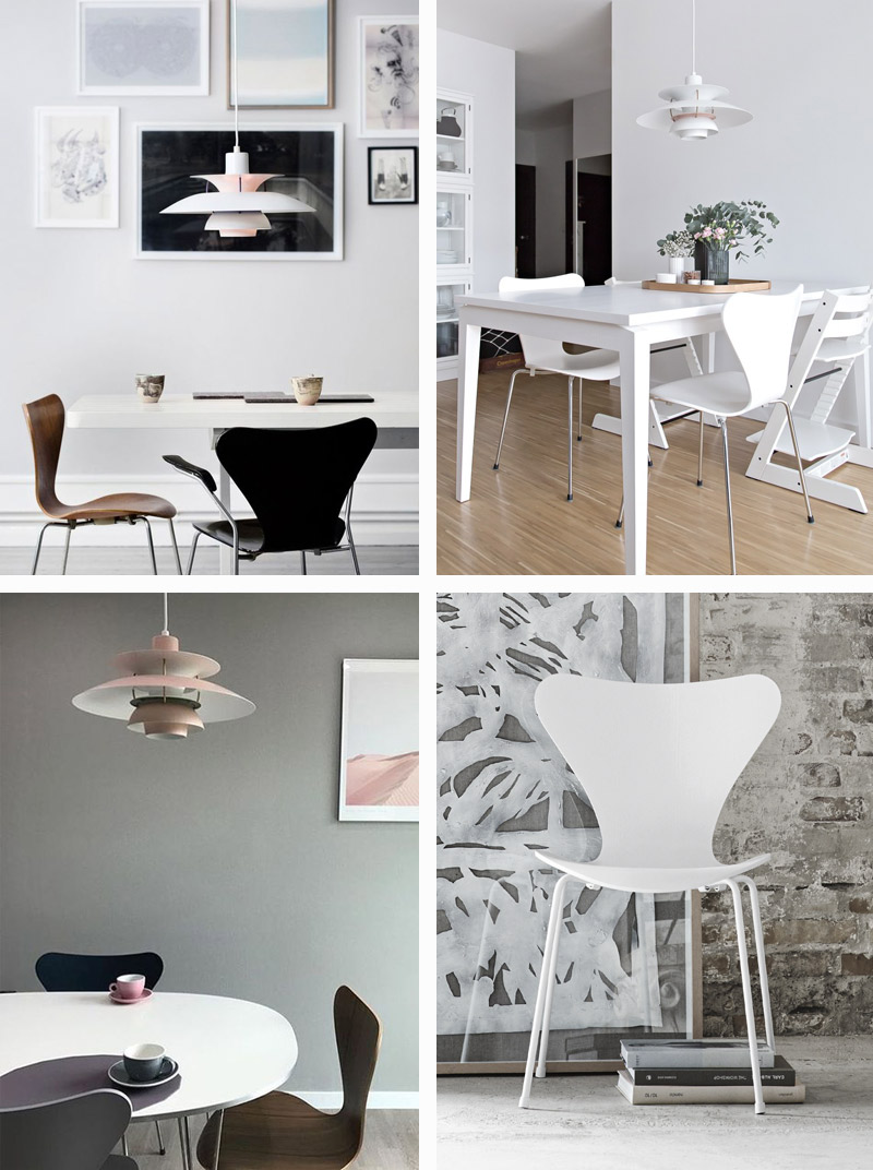 5 ways to style Louis Poulsen – Fritz Hansen Series 7 chair.jpg