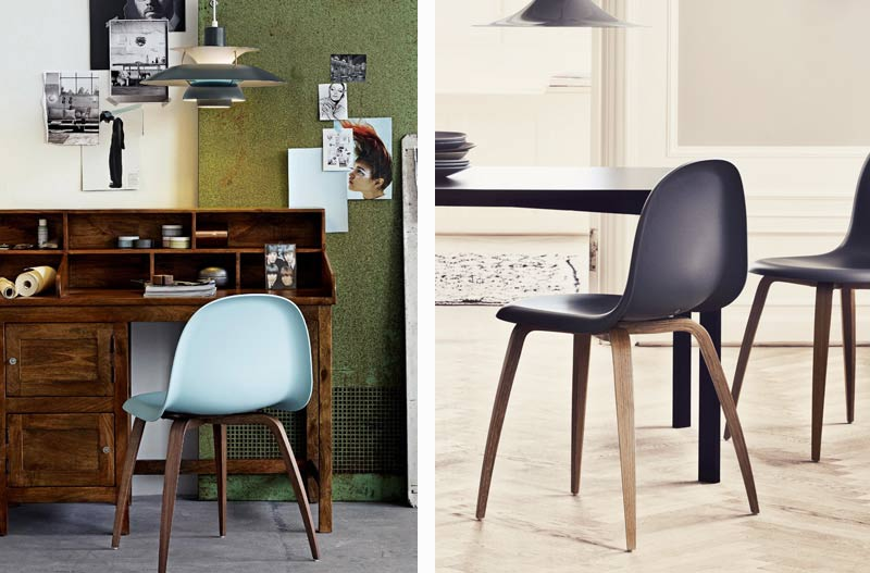 5 ways to style Louis Poulsen – Gubi Chair with Walnut Base.jpg