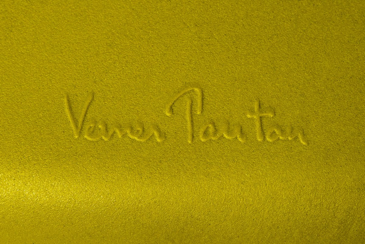 Verner Panton's signature features on each authentic Panton Chair