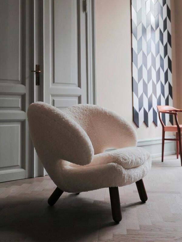 Sheepskin House of Finn Pelican Chair in Scandi lounge