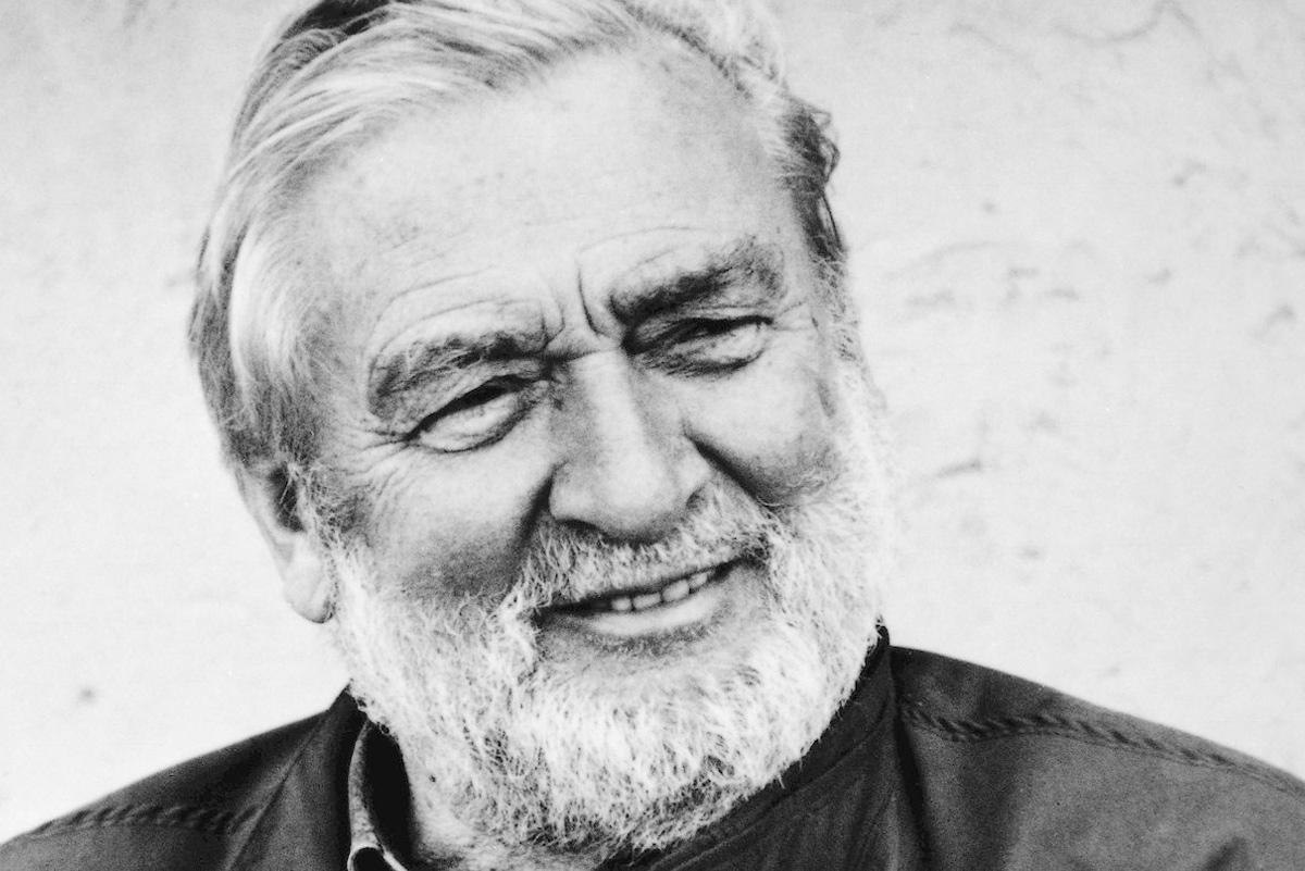Portrait of designer Verner Panton