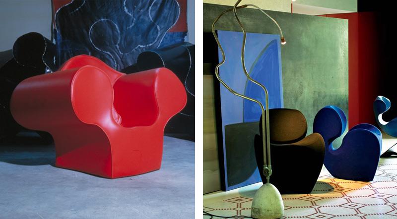 Retro 80s Cool – Ron Arad – Moroso Big Easy Armchair & Soft Little Heavy Armchair.jpg
