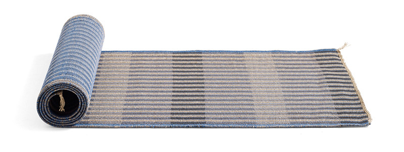 Hay Two Ways Rug Blue