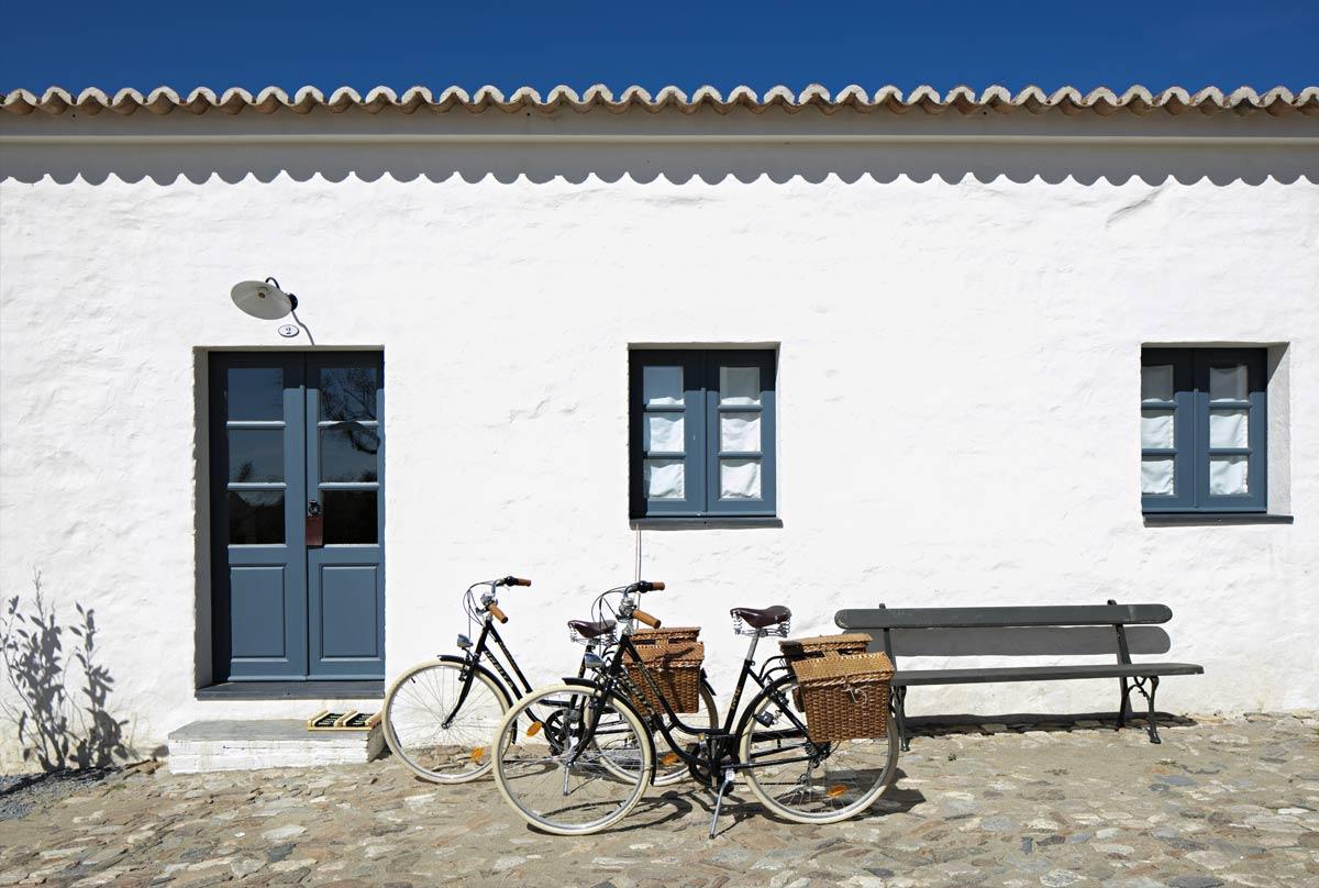 Bicycles outside of São Lourenço do Barrocal, Portugal.jpg