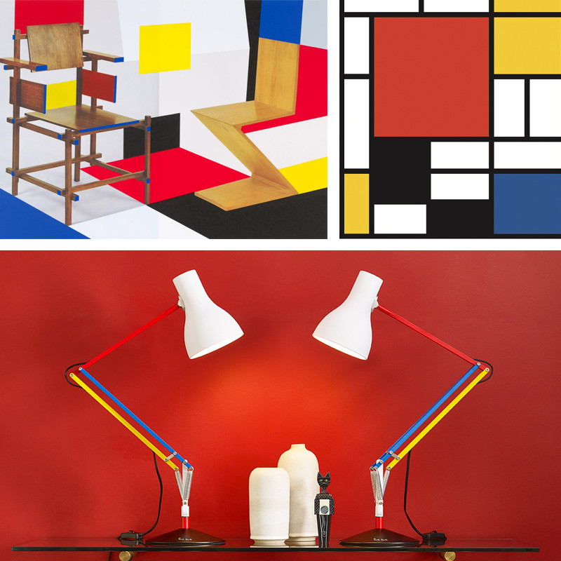 Shining a light on geometric design – Anglepoise Type 75 Edition 3 inspired by Piet Mondrian