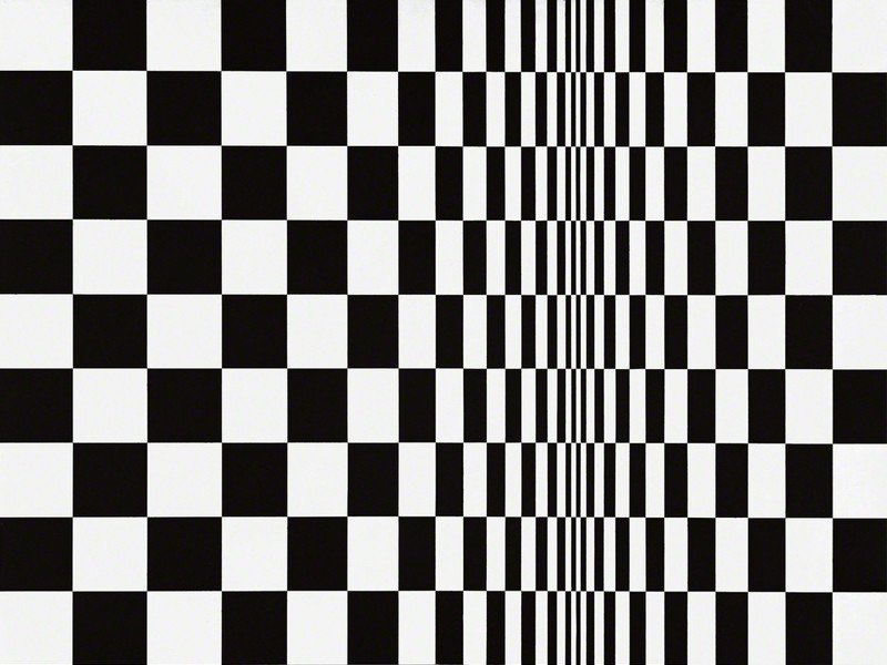 Shining a light on geometric design – Movement in Squares by Bridget Riley