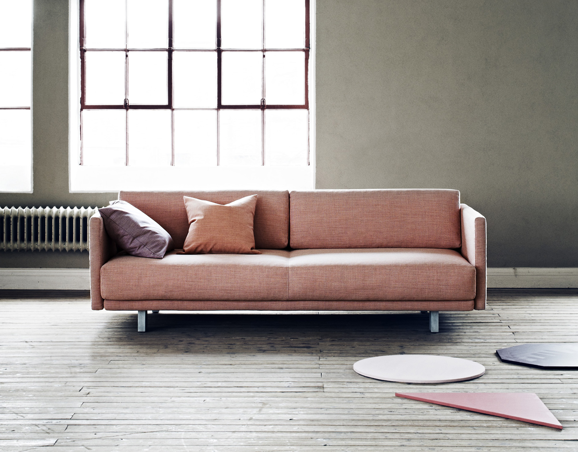 Softline Meghan Sofa Bed in blush pink