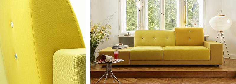 Vitra Polder Sofa in Golden Yellow