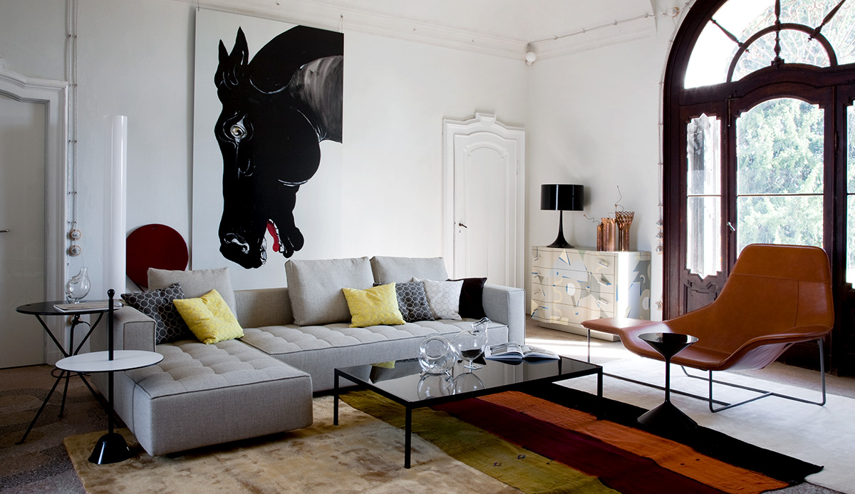 Zanotta 1242 Kilt Modular Corner Sofa
