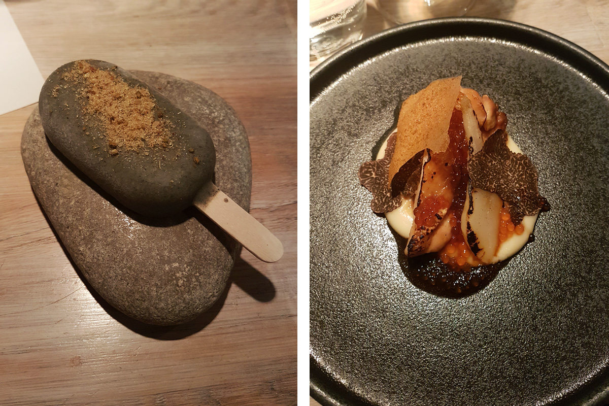 Food from the Nisch Taster Menu Stockholm