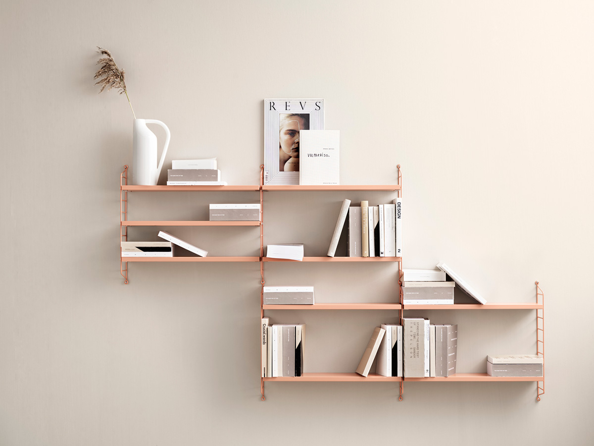 String Pocket Shelving Blush colour