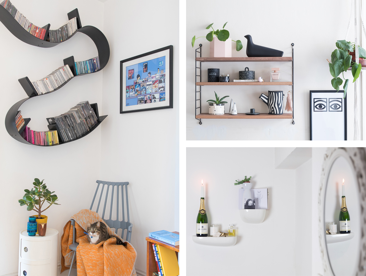 Round up of our nest.co.uk selfies featuring the Kartell Bookworm, String Pocket Shelf and Vitra Corniches in white.jpg
