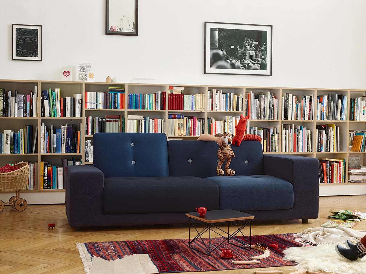 Vitra Polder Sofa Compact in Night Blue