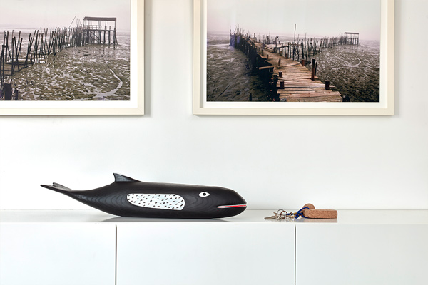 Vitra Eames House Whale on sideboard
