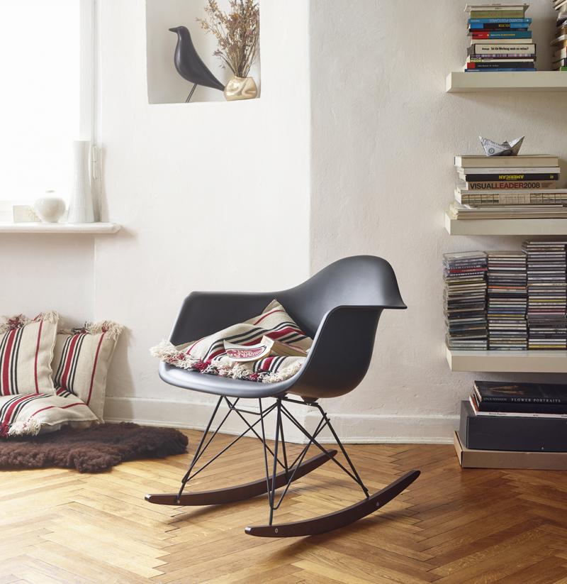 The Vitra RAR Eames Plastic Armchair Black & Dark Maplewood Base.jpg