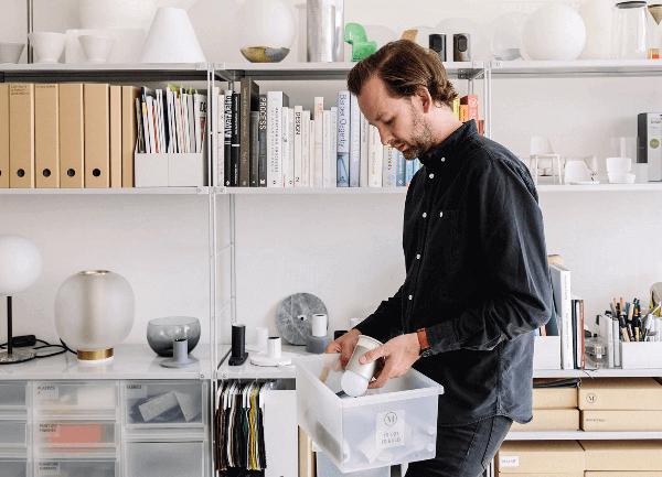 Designer Tim Rundle inside his design studio