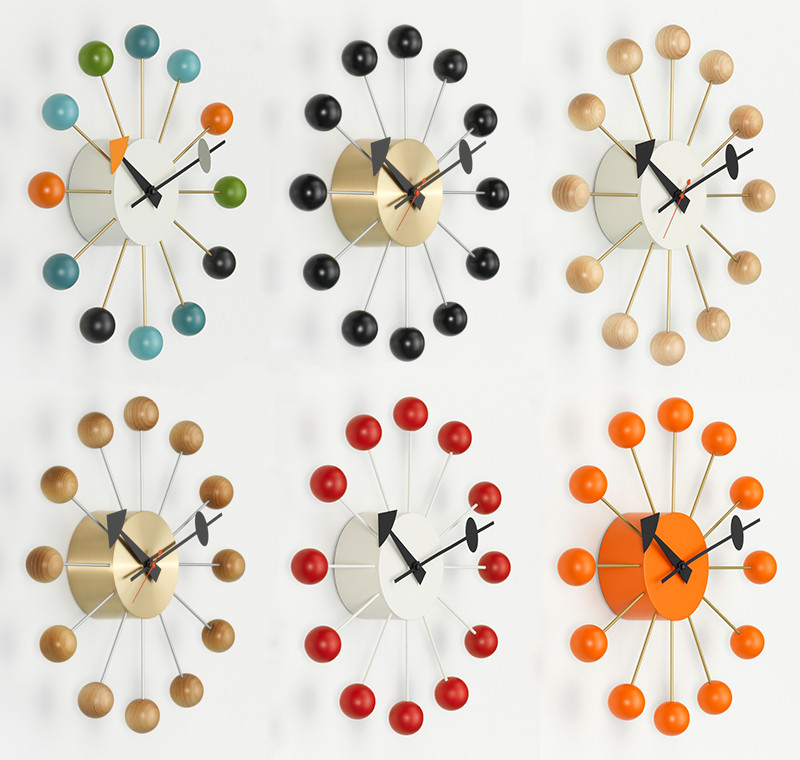 The Vitra Ball Clock - available in 6 colourways